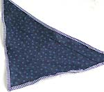 Dark blue color with tiny white dot design cotton triangle head bandana head scarf with tie