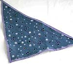 Dark blue sky with snowflake pattern design cotton triangle head bandana head scarf with tie