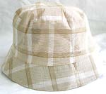 Double sided cotton bucket hat, one side of neutral line fashion, and flipped over for pure white with zipper design