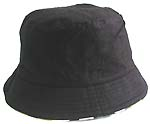 Fashion cotton double sided bucket hat, one side of natural black, and flipped over for army fashion with zipper design