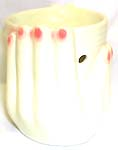 Two hands holding a cup design white ceramic fashion oil burner