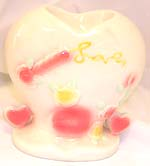 Heart love style ceramic oil burner