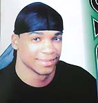 Wrinkle free breathable polyester stretchy fashion durag with long tail, black, one size fits all, each durag comes in its own clear package ready for rack display