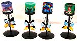 Assorted color and design butterfly style stand on fimo candle holder