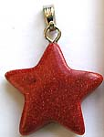 Star pattern genuine gold sand stone forming fashion pendant