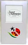 Straight stand luminium metal picture frame with lady bug design