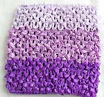 Three grade of purple color stretchable crochet headwrap