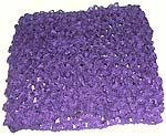 Natural purple color stretchable crochet headwrap