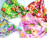 Assorted color and flower design cotton head bandana head scarf with stretchable end