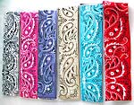 Assorted color stretchable cotton hair / sweatband