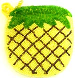 Pineapple pattern design fashion beaded purse