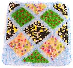 Assorted color dot pattern design fashion beaded purse