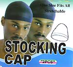 One size fits all fashion natural blue polyester stocking cap