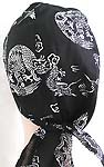Asian power natural black with dragon design fashion cotton skullcap
