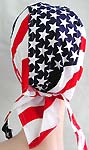 American spirit American flag design fashion cotton skullcap with tie