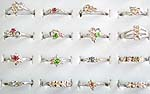 Fashion ring with assorted color and design cz , assorted size randomly pick