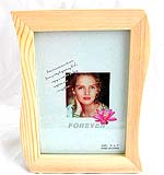 Fashion wave pattern smooth finishing wooden picture frame
