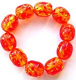 Rounde amber beads froming strecthy fashion bracelet