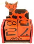 Assorted color cow design wooden calender