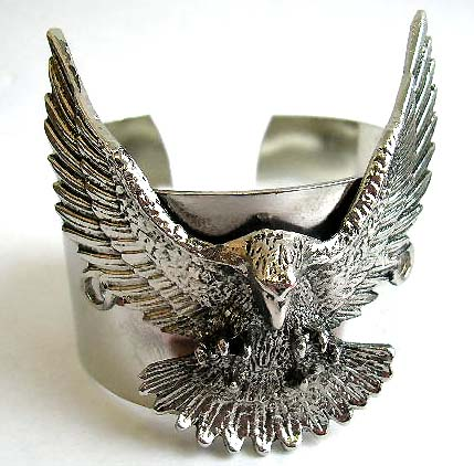 wholesale american patriotic jewelry, american eagle flying bangle cuff fashion costume jewelry supply