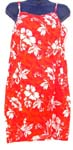 Assorted hawaiian summer scene rayon lady's tank dress