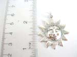 925.stamped sterling silver smiling sun pendant