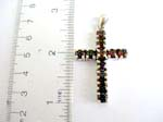 925.sterling silver cross pendant with black onyx inlaid