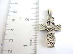 Sterling silver celtic cross pendant with might snake design