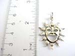 925.sterling silver pendant with big smile sun design