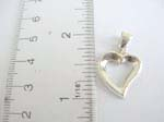 925.sterling silver floating heart pendant
