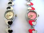 double heart shape fashion watch