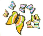 Rainbow butterfly mobile