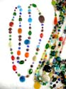 Matched assorted color beaded summer fashion necklace