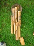 Indoor, outdoor bamboo crafted wind chimes