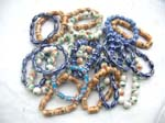Indonesian ceramic bead bracelet