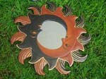 Bali mirror art, wall accessory with unique painted designs